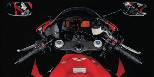 CBR600RRの純正ハンドル回り。低い・・・(出典:http://www.cbr600.ru/)