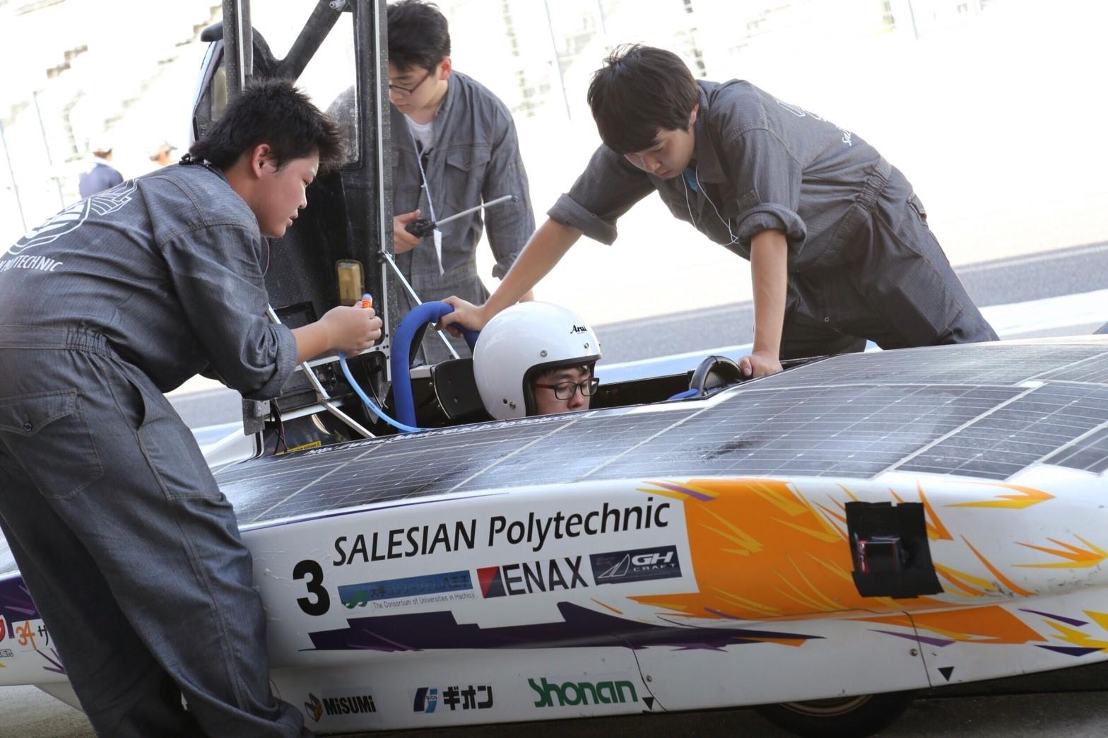 ソーラーカーレース鈴鹿2016に参加した サレジオ高専ソーラーカープロジェクト