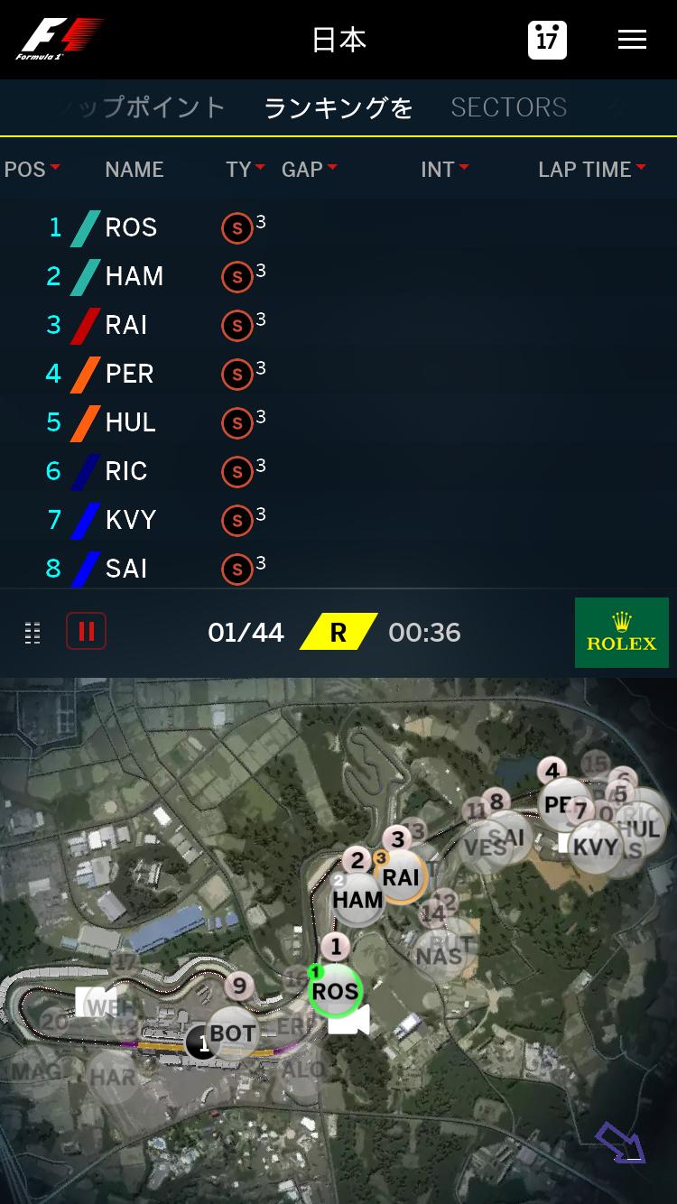 F1 アプリ