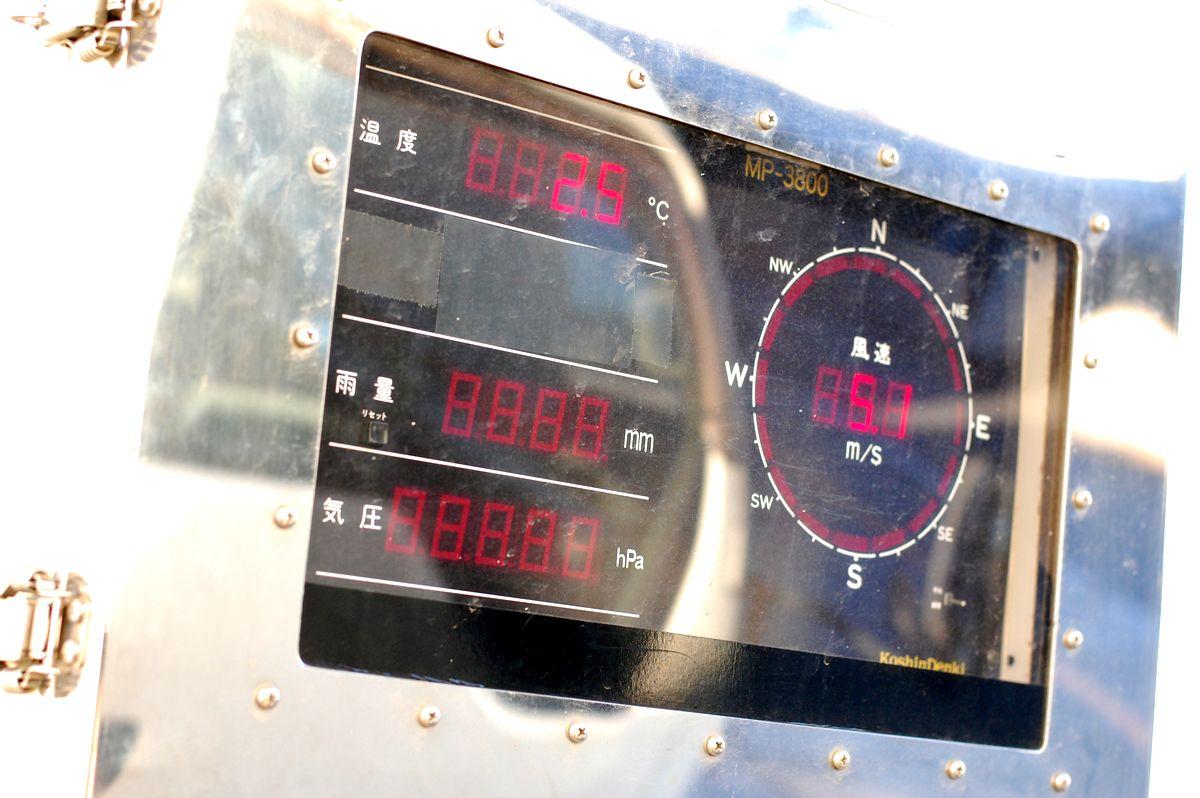 筑波サーキットの温度計 Photo by RYU-K