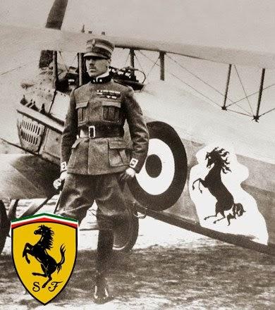第一次世界大戦におけるイタリアの撃墜王、フランチェスコ・バラッカ伯爵の機体に「Cavalino Rampante」が描かれている。(出典:http://assivolanti.altervista.org/)