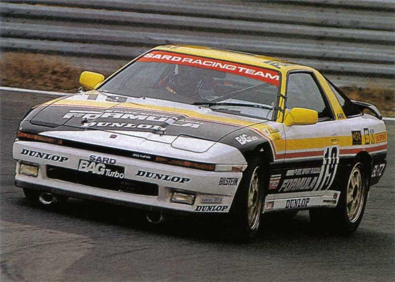 1987年のインターTECに出場したサードスープラ。この時はセリカではなく70スープラです。ドライバーは 佐々木 秀六選手(出典:https://www.gtplanet.net)